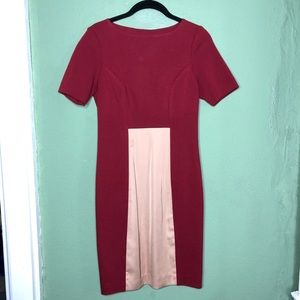 2B. Rych  Red and Khaki Bodycon Dress Size 4
